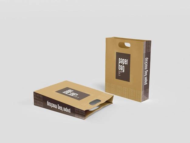 Makieta do pakowania w worki papierowe