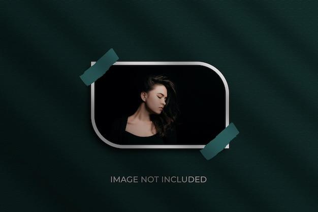 Makieta Do Zdjęć W Ramce Papierowej Premium Psd Premium Psd