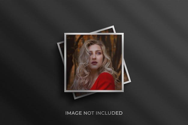 Makieta do zdjęć w ramce papierowej premium psd