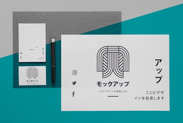 Makieta dokumentów biznesowych azjatyckich firmy