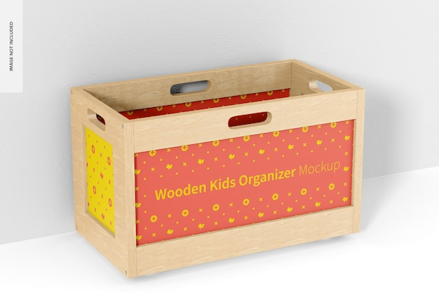 Makieta drewnianego organizera dla dzieci, perspektywa