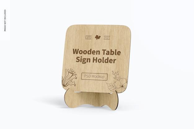 Makieta drewnianego uchwytu na stół, widok z przodu