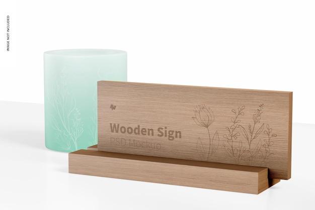 Makieta drewnianego znaku