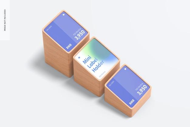 Makieta drewnianych uchwytów na etykiety cenowe mini