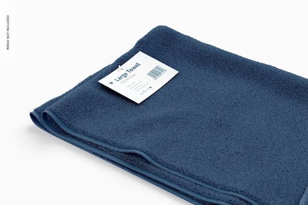 Makieta dużego ręcznika, zbliżenie