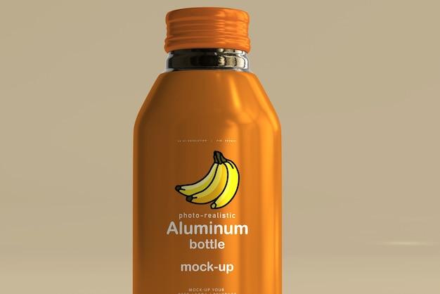Makieta dużej aluminiowej butelki na napoje