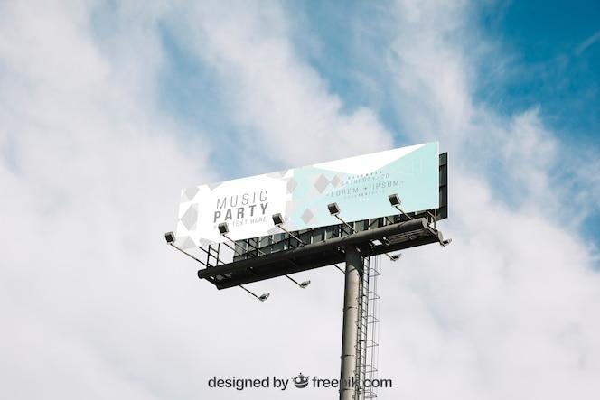 Makieta dużych billboardów