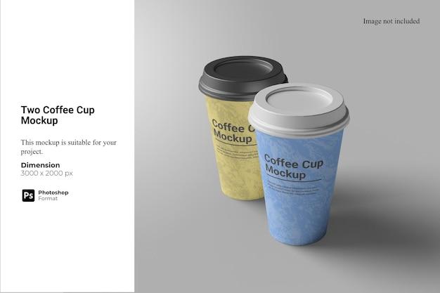 Makieta dwóch filiżanek kawy