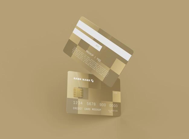 Makieta dwóch kart kredytowych
