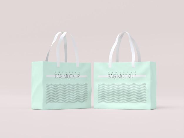 Makieta dwóch toreb na zakupy