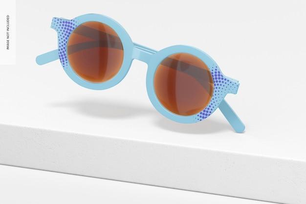 Makieta dziecięcych okularów przeciwsłonecznych, spadające