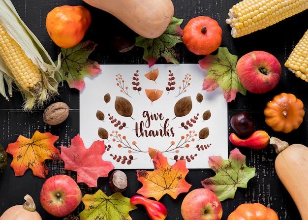 Makieta dziękczynienia z okładki lub papieru