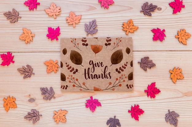 Makieta dziękczynienia z życzeniami