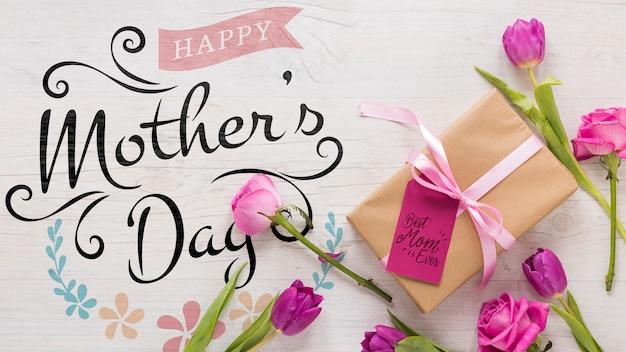 Makieta dzień matki kwiatowy