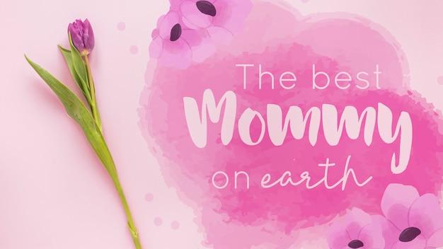 Makieta dzień matki z copyspace