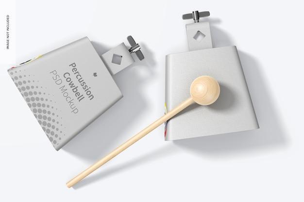 Makieta dzwonków perkusyjnych, widok z góry