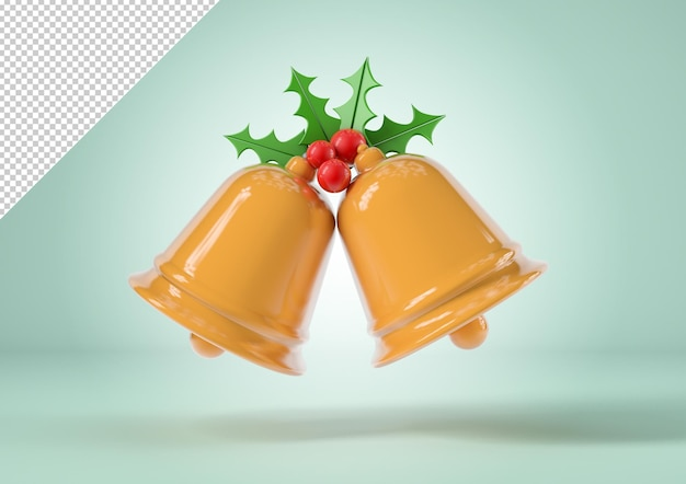 Makieta dzwonków świątecznych, koncepcja bożego narodzenia i nowego roku