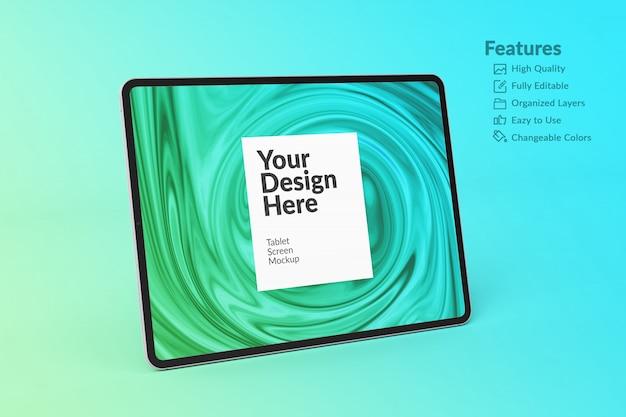 Makieta edytowalnego ekranu tabletu z urządzeniem cyfrowym