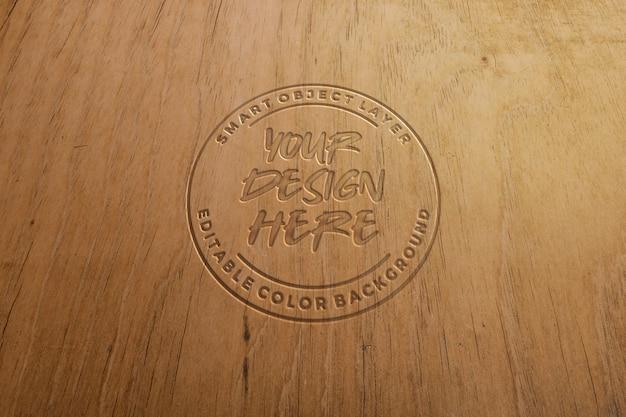 Makieta efekt niebieski tekst rzeźbione drewna