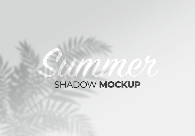 Makieta efektu cienia na tle tropikalnego produktu