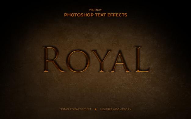 Makieta efektu królewskiego tekstu