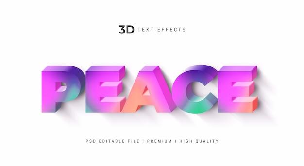 Makieta efektu stylu tekstu 3d pokoju