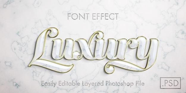 Makieta efektu stylu tekstu białego złota