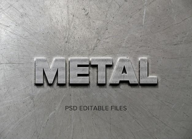 Makieta efektu stylu tekstu metalowego