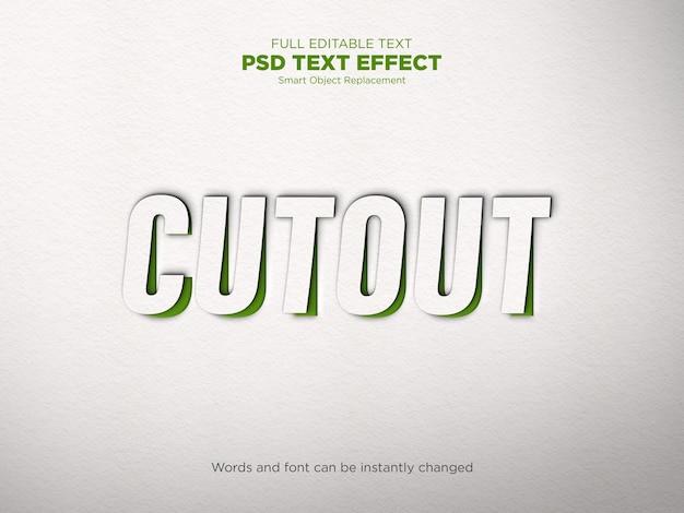 Makieta efektu tekstowego wycinania