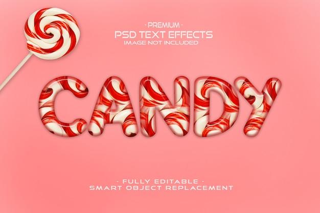 Makieta efektu tekstu cukierków