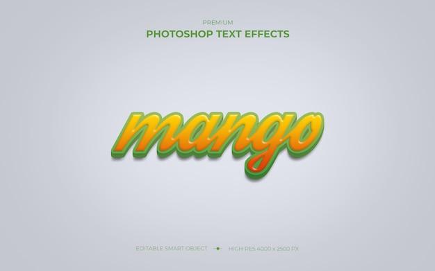 Makieta efektu tekstu mango