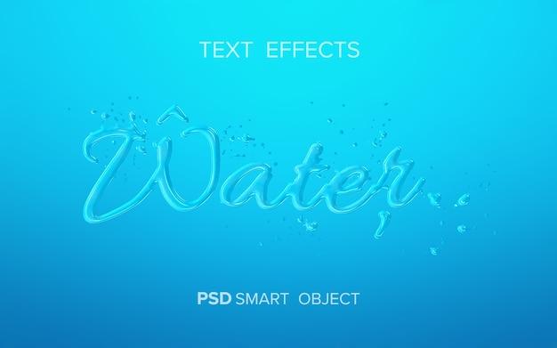 Makieta efektu tekstu wodnego