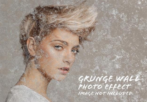 Makieta efektu zdjęcia starej grunge ściany