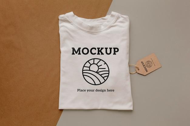 Makieta ekologicznego opakowania t-shirt