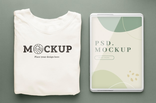 Makieta ekologicznego opakowania tshirt