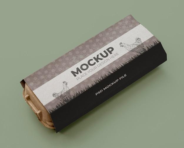 Makieta ekologicznego pakowania jaj
