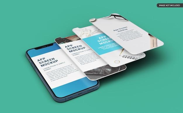 Makieta ekranu aplikacji na smartfona