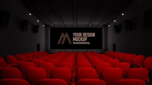 Makieta ekranu filmowego w kinie