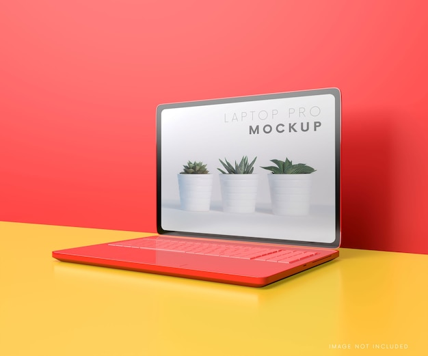 Makieta ekranu komputera przenośnego
