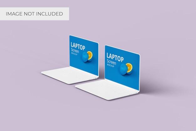 Makieta ekranu laptopa, widok pod kątem prostym