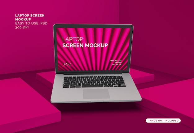 Makieta ekranu laptopa