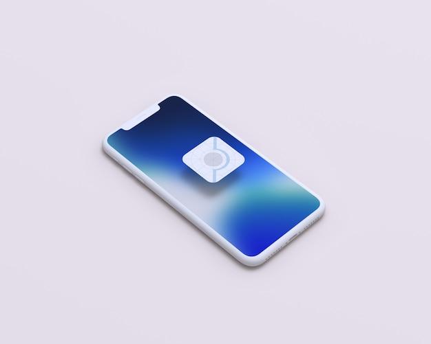Makieta ekranu mobilnego perspektywy