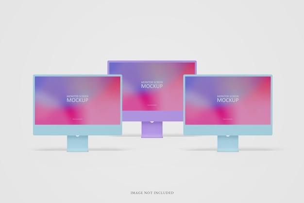 Makieta ekranu monitora komputerowego