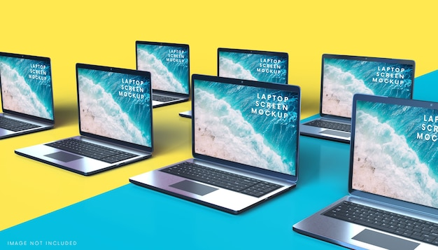 Makieta ekranu notebooków