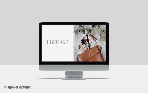 Makieta ekranu pulpitu premium psd