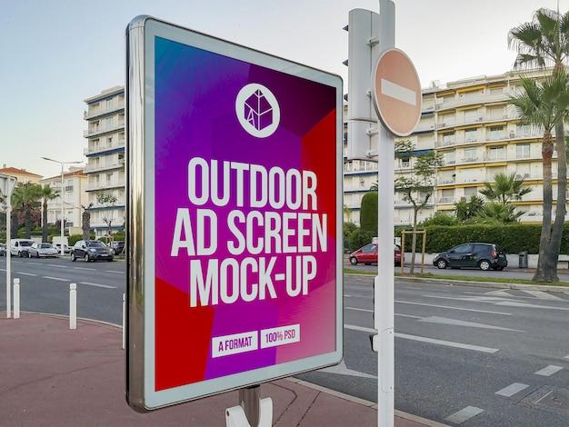 Makieta ekranu reklamy zewnętrznej