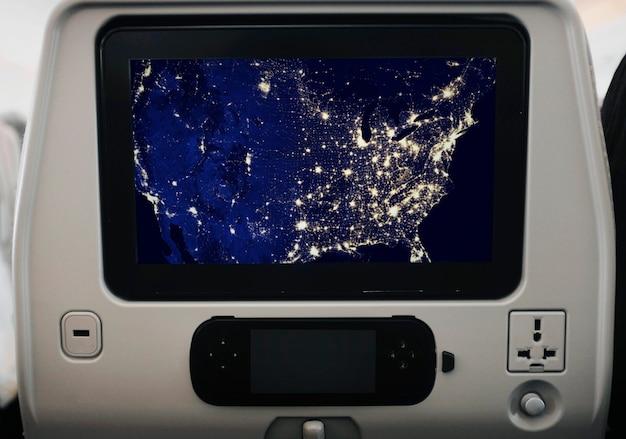 Makieta ekranu samolotu z gniazdka