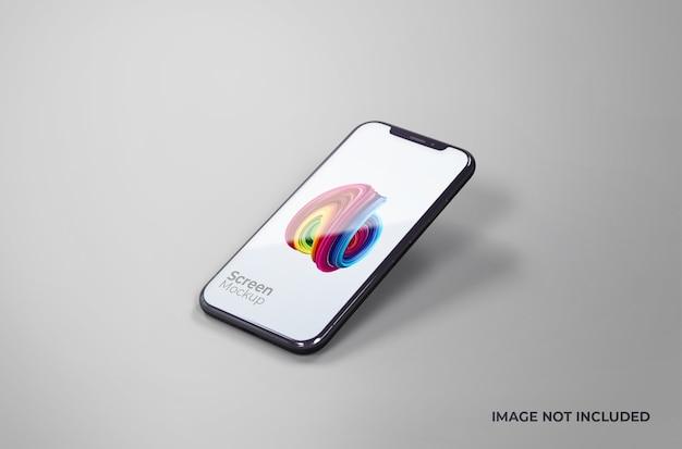 Makieta ekranu smartfona czarny na białym tle