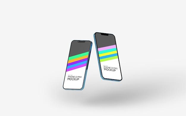 Makieta ekranu smartfona iphone 13 pro