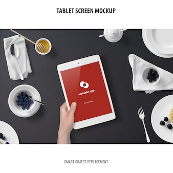 Makieta ekranu tabletu